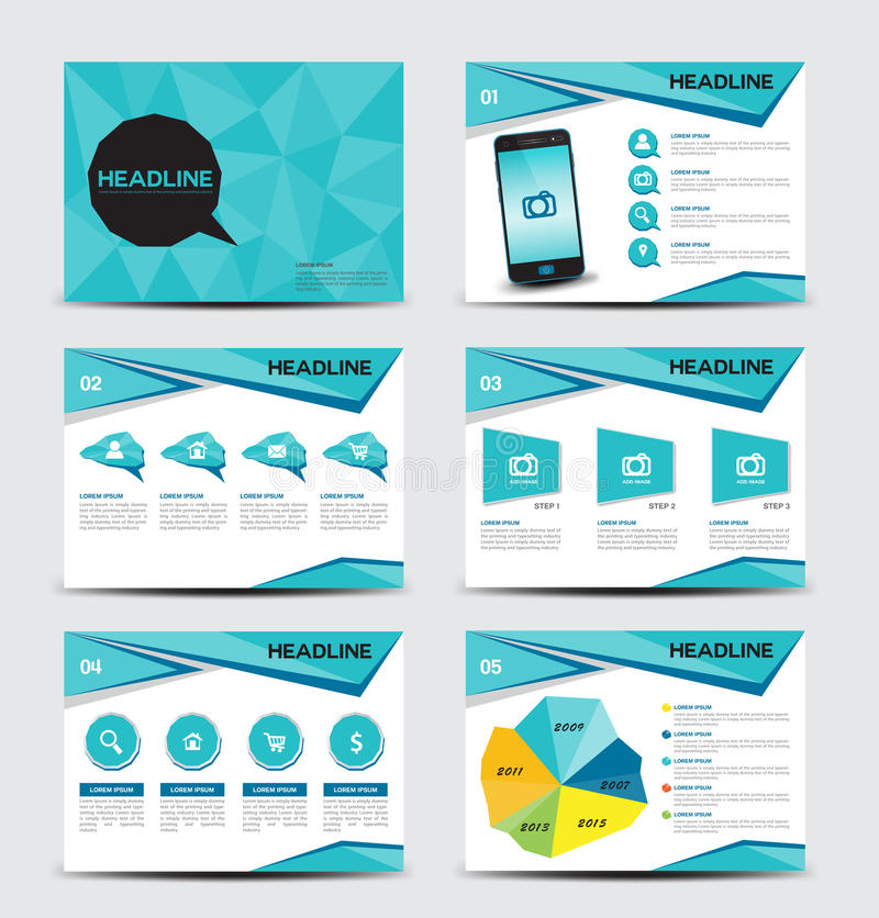 Business brochure flyer design layout template in A4 size royalty free illustration