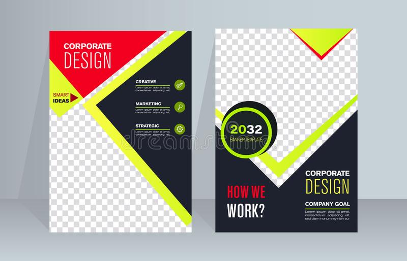 Business Brochure. Flyer Design. Leaflets a4 Template. Cover Book and Magazine. royalty free illustration