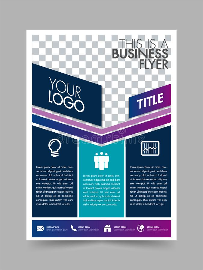 Business brochure flyer design poster layout template with white background.Can be used cover, annual report, marketing promotion, royalty free illustration