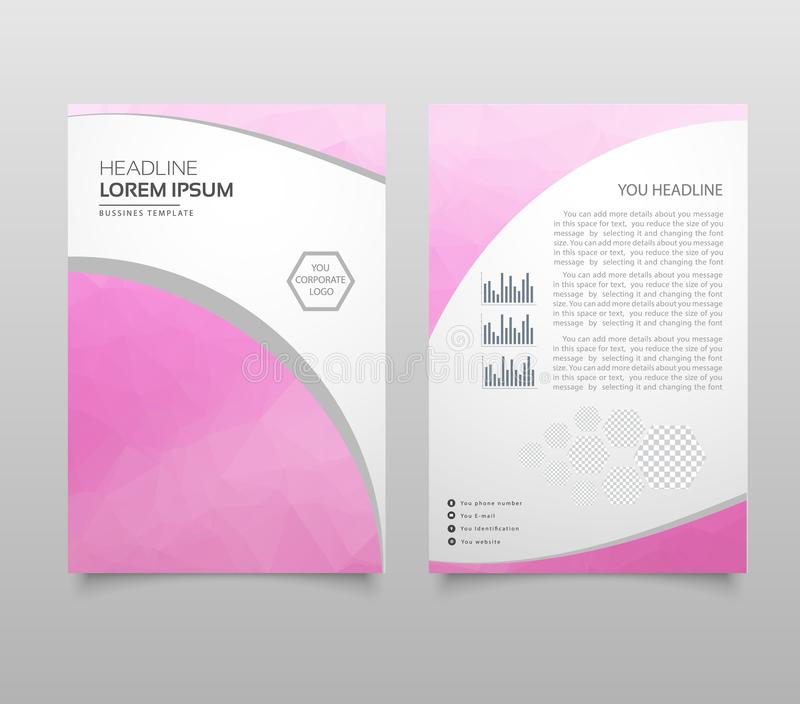 Business brochure flyer design a4 template with polygonal style. royalty free illustration