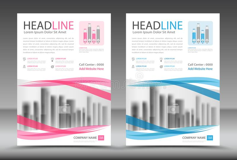 Business brochure flyer template, annual report, cover design. Advertisement, printing, magazine ads, poster vector illustration