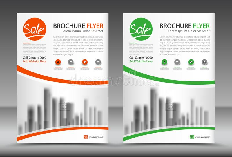 Business brochure flyer template, annual report, cover design. Magazine ads royalty free illustration