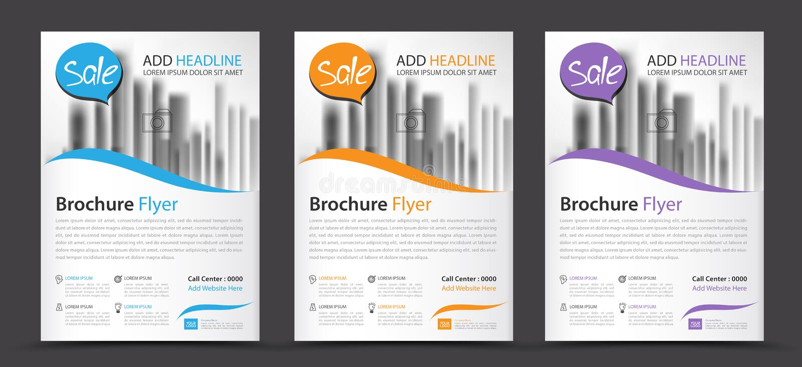 Business brochure flyer template, annual report, cover design royalty free illustration