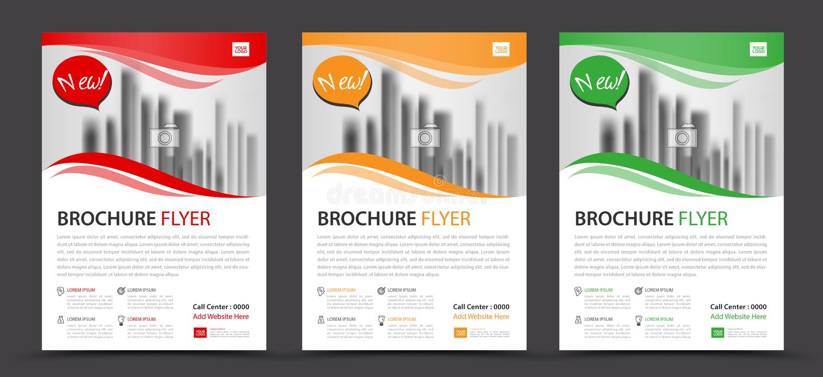 Business brochure flyer template, annual report, cover design. Layout royalty free illustration