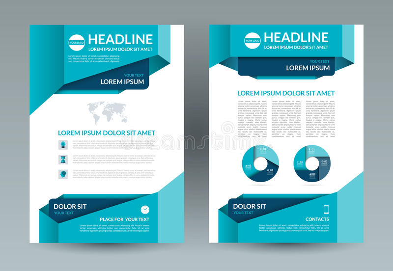download business brochure layout template a4 size front and back page stock vector