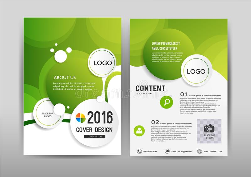 Business brochure template design.Cover layout for annual report. royalty free illustration