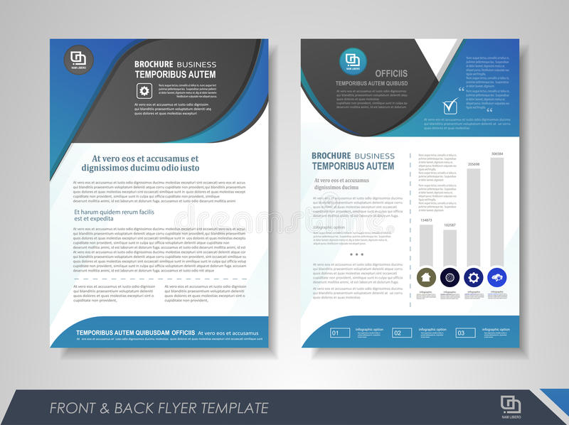 Business brochure template stock illustration