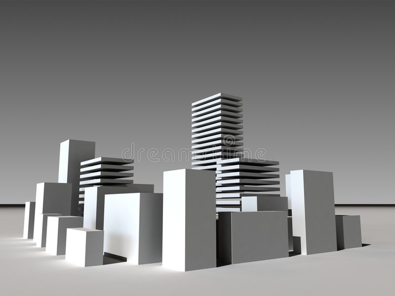 Business building 3D royalty free illustration