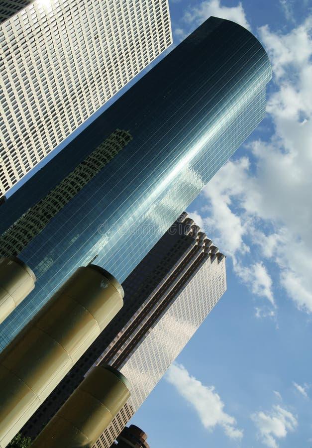 Business Building Against Cloud stock photos