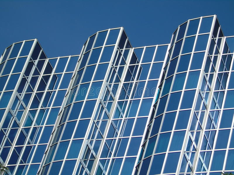 Business building full of glass royalty free stock image