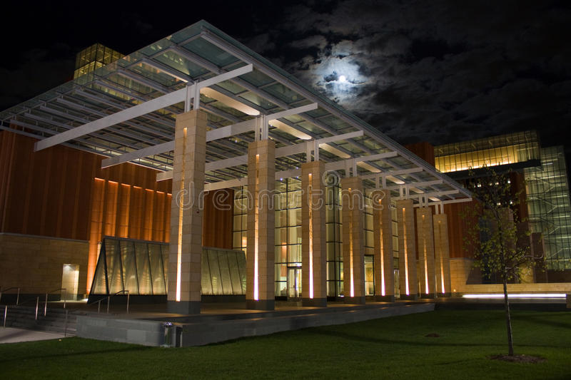 Business Building with the Moon royalty free stock photography