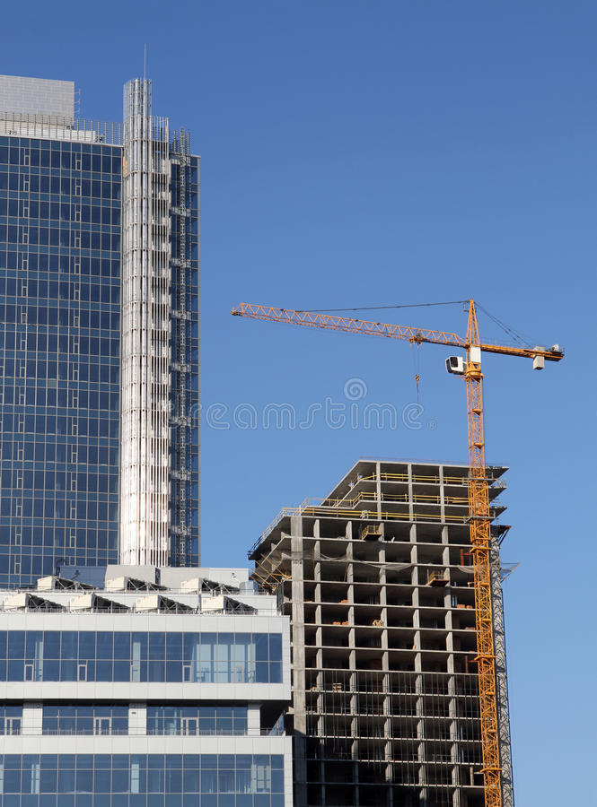 Business building under construction royalty free stock photography