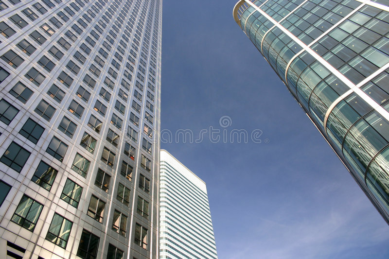 Business buildings royalty free stock photos