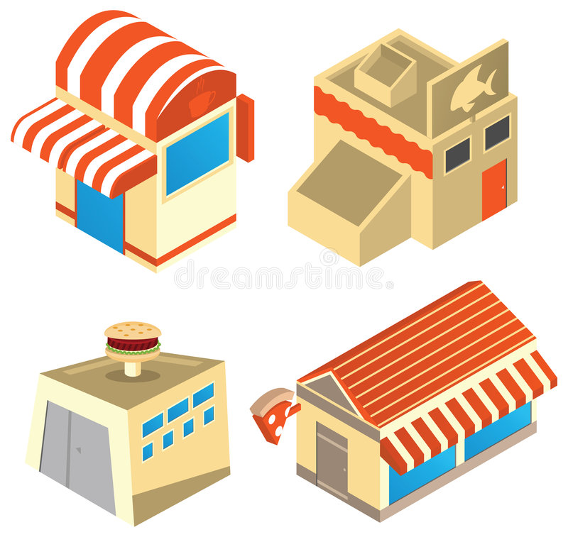 Download Business buildings stock vector. Illustration of graphic - 7934972