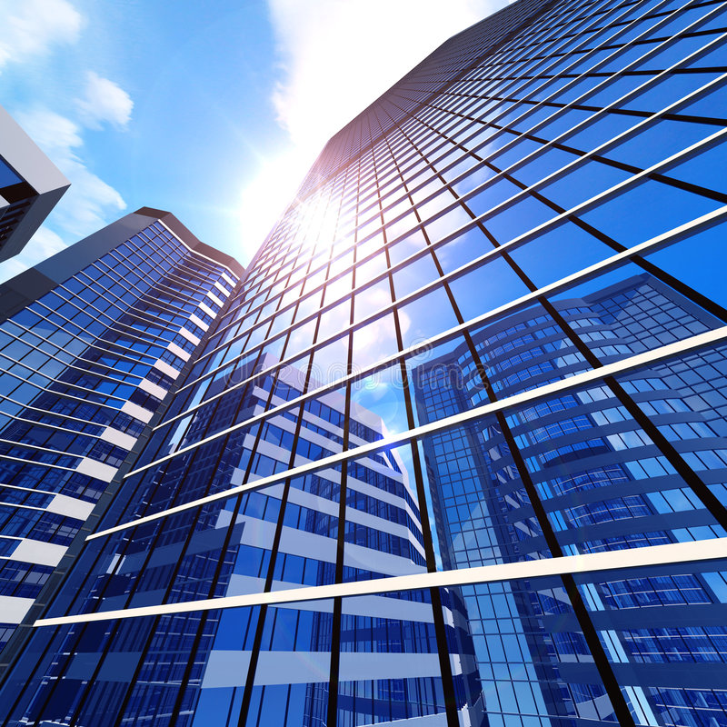 Download Business buildings stock illustration. Image of clouds - 8898591