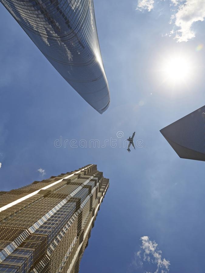 Free Business Buildings And Air Plane Royalty Free Stock Photos - 103366638