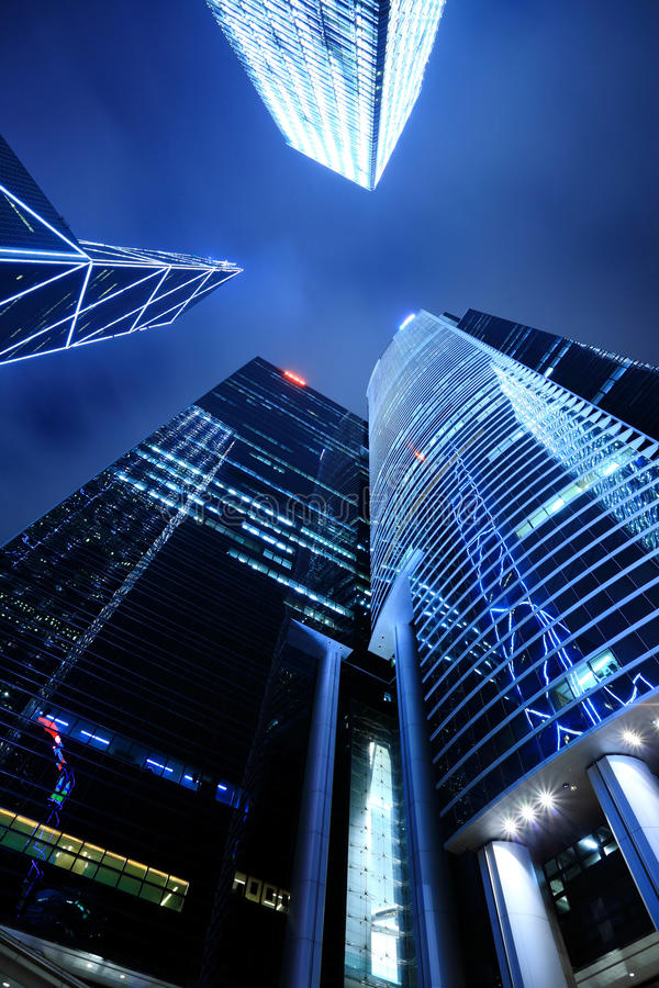 Business buildings in Hong Kong royalty free stock photos