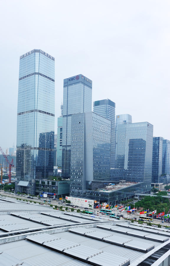 Business buildings at shenzhen stock image