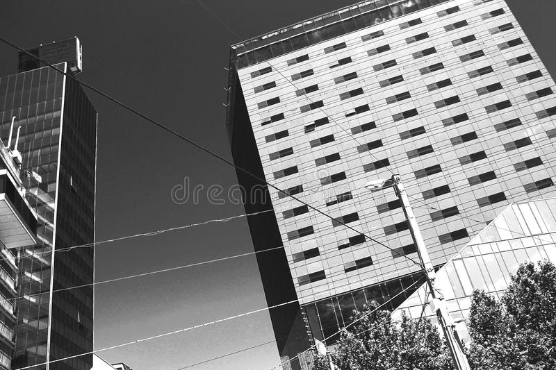 Business buildings in Vienna royalty free stock photo