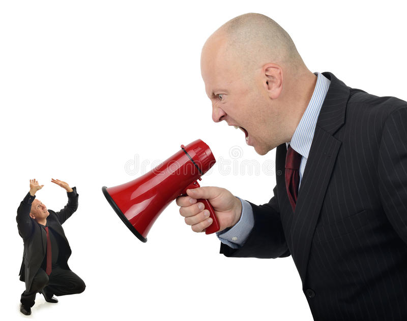 Business bully stock image