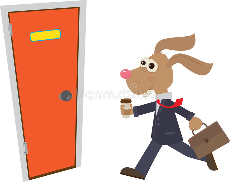 Download Business Bunny stock vector. Image of workplace, appointment - 35735270
