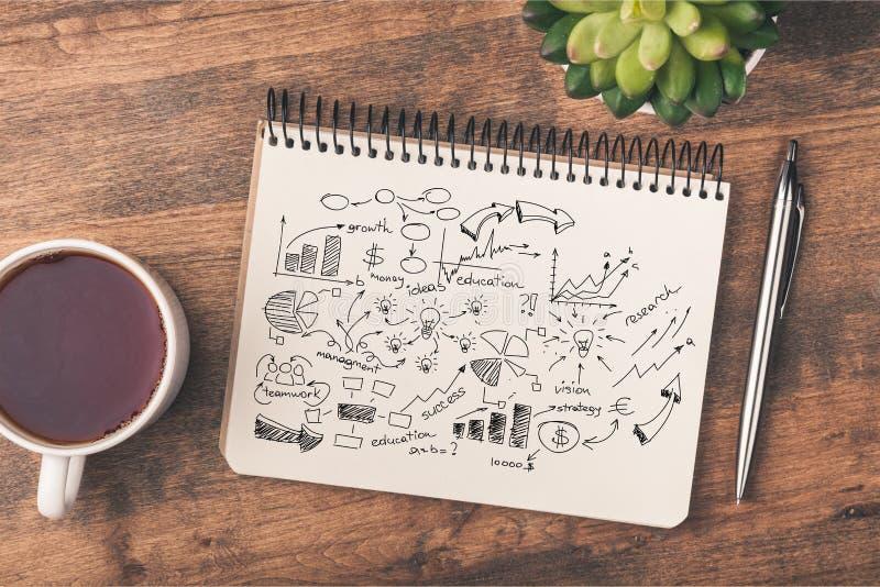 Business. Design workshop plan man vision graph stock image