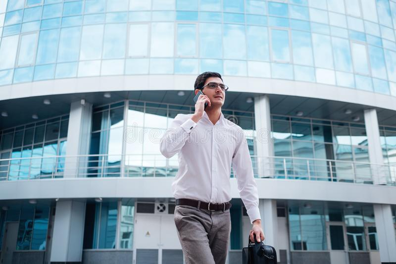 Business busy lifestyle man talking phone royalty free stock photos