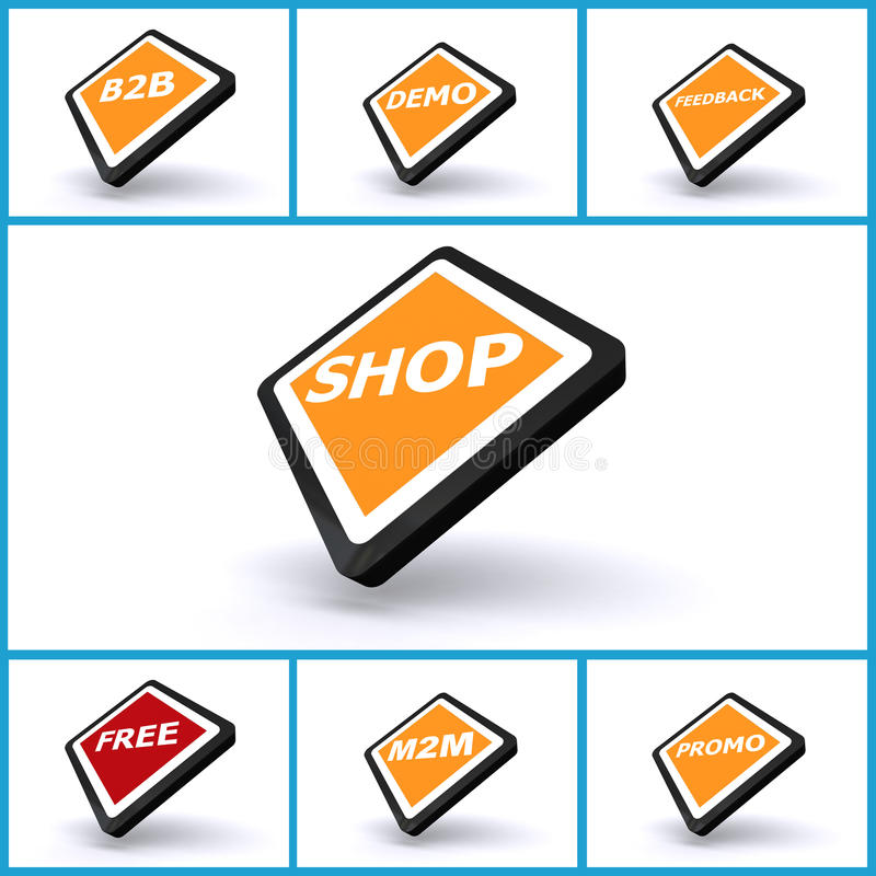Business Buttons Stock Photo