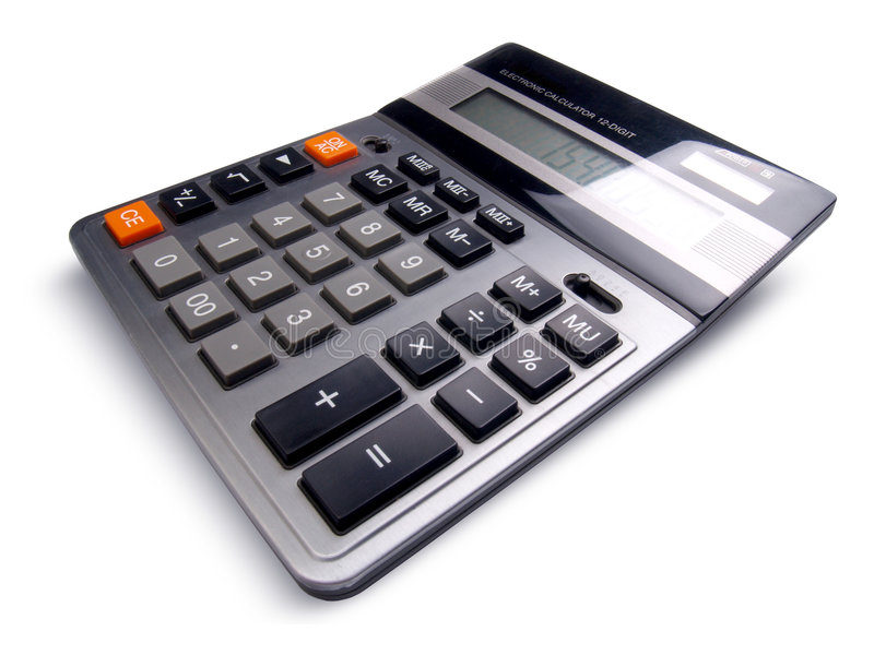 Business calculator. Professional business calculator isolated on white background royalty free stock photos