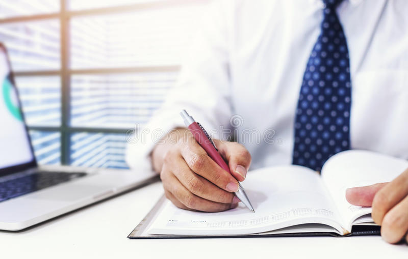 Business Calender Planner meeting on desk office. stock images