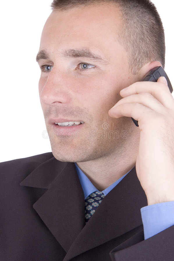 Download Business call stock photo. Image of expression, serious - 1407794