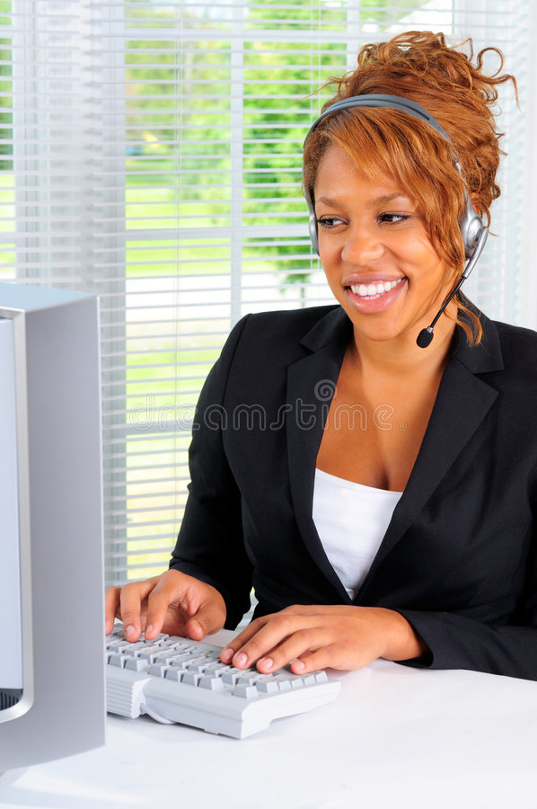 Business Call Center stock photo