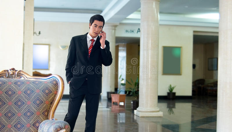 Business call phone stock photography