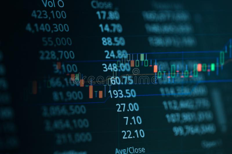 Business candle stick graph chart of stock market investment trading royalty free stock photos