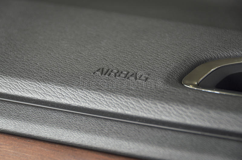 Business car airbag panel royalty free stock photography
