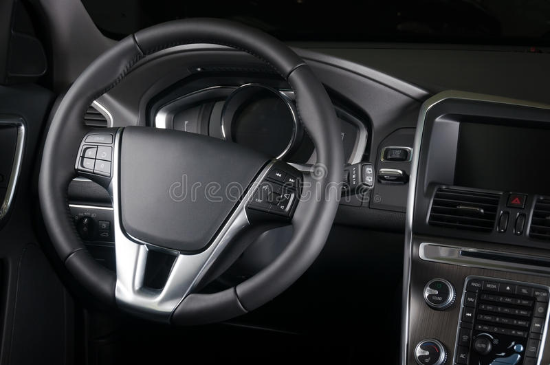 Business car interior stock photography
