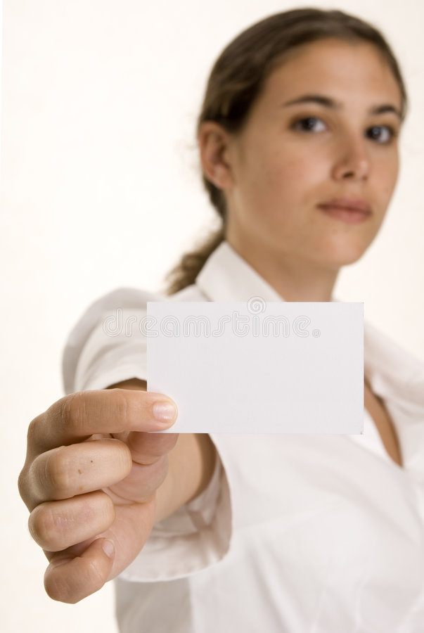 Download Business Card stock photo. Image of woman, card, brunette - 194470