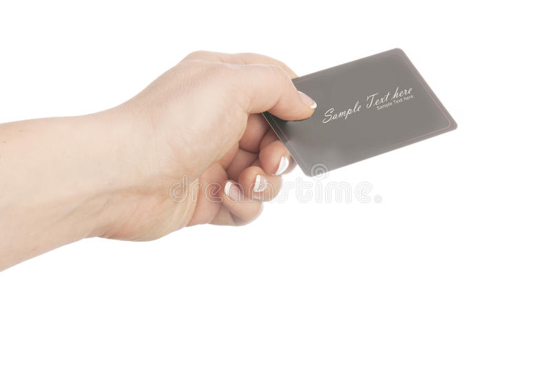 Download Business card stock image. Image of finger, professional - 25924745