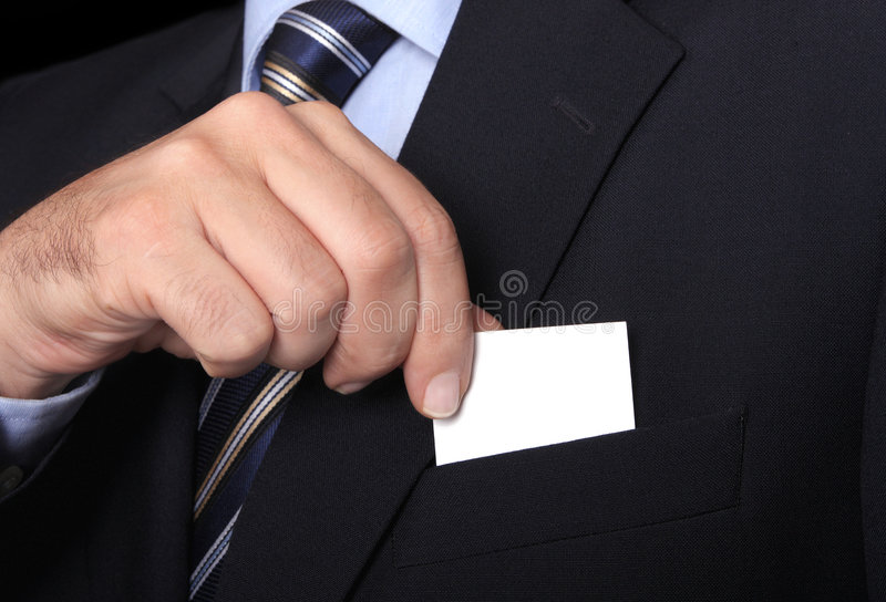 Business card. Business man taning a business card from his pocket stock photos