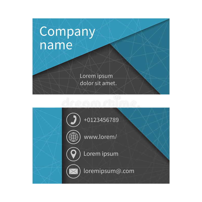 Business Card With Abstract Background Of Lines. Business Cards ...
