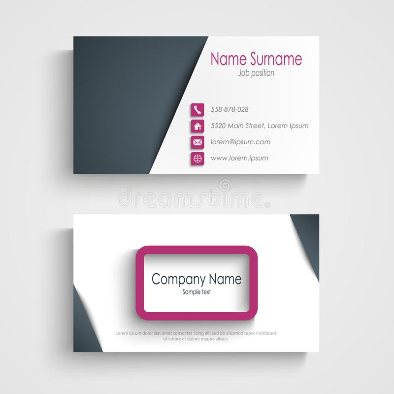 Business Card With Abstract Frame Design Element Editorial Stock ...