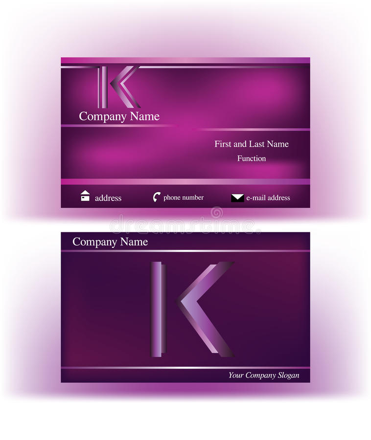 Business card with abstract k letter logo stock vector download business card with abstract k letter logo stock vector illustration of company construction colourmoves Images