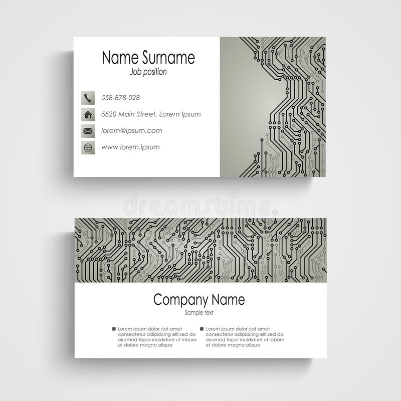 Business card with abstract printed circuit board stock vector business card with abstract printed circuit board vector eps 10 colourmoves