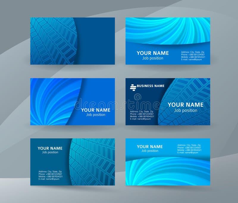 Business card background blue set of horizontal templates12 royalty free illustration