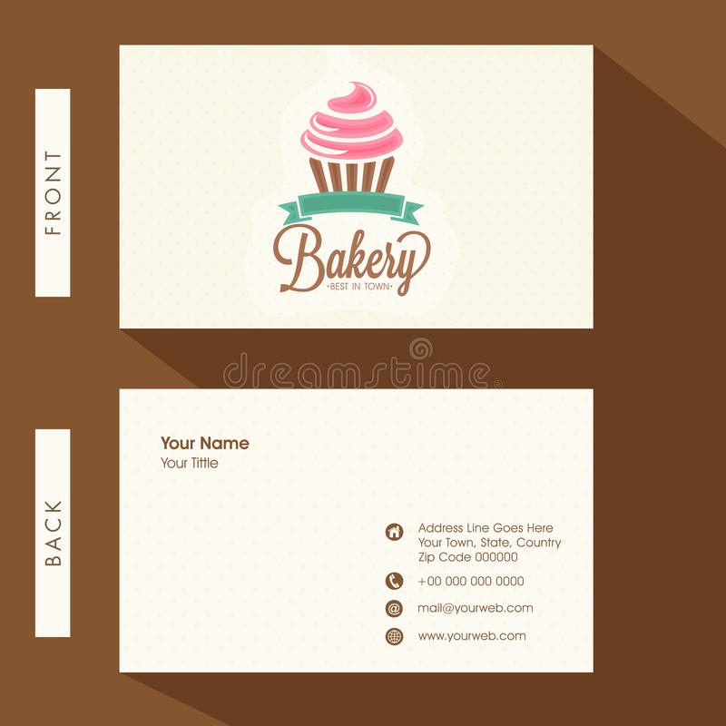 Business card for Bakery. stock illustration. Illustration of clean ...