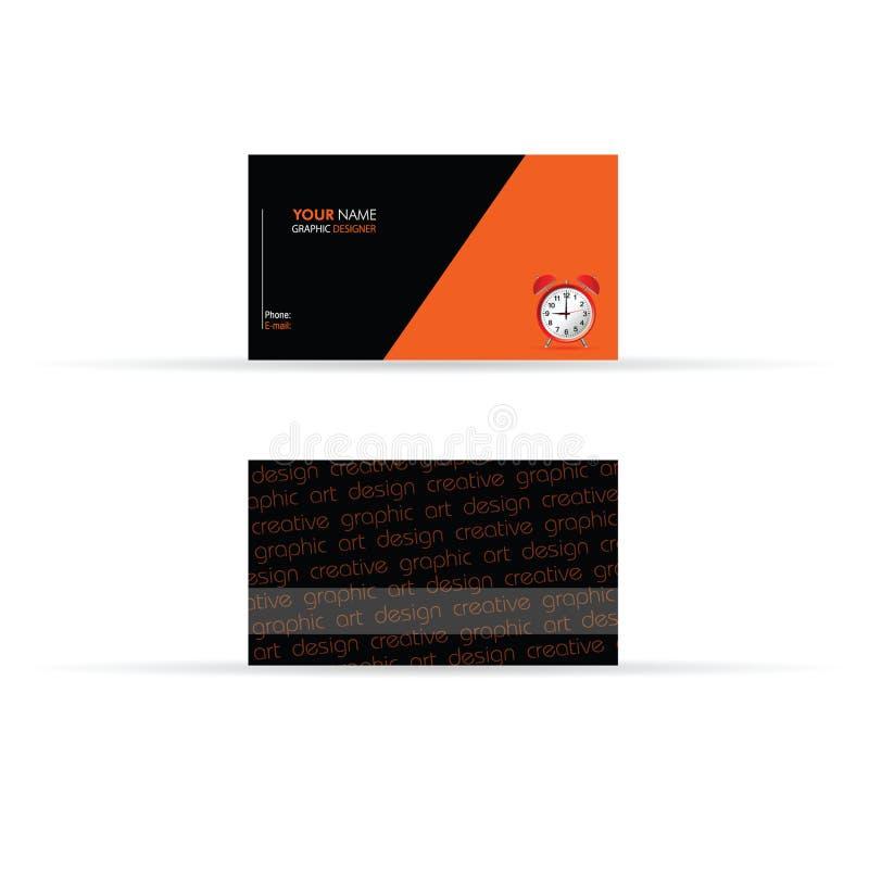 Business card black and orange color vector stock vector download business card black and orange color vector stock vector illustration of element illustration colourmoves