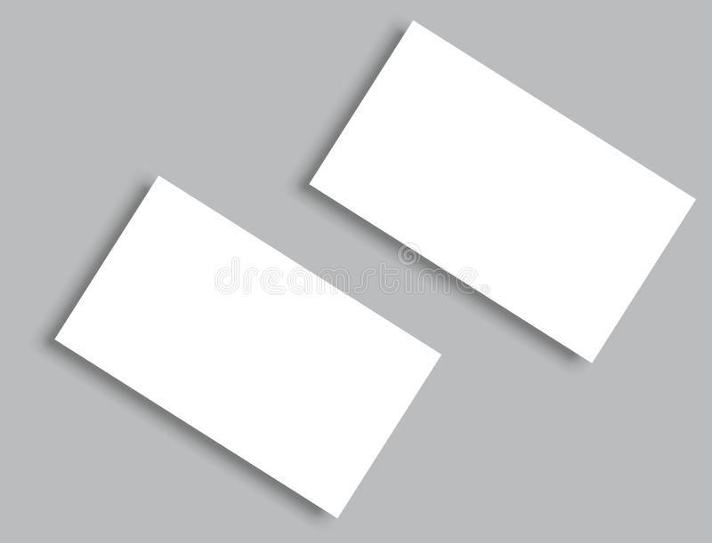 Business card blank with shadow mockup cover template stock vector download business card blank with shadow mockup cover template stock vector illustration of present reheart Images