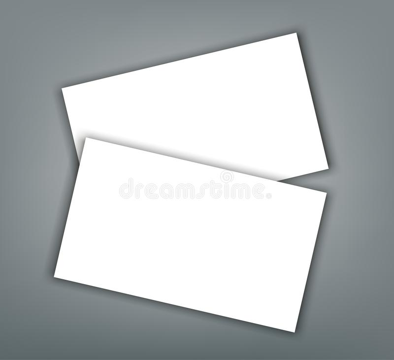 Business card blank with shadow mockup cover template stock vector download business card blank with shadow mockup cover template stock vector illustration of clean wajeb Image collections