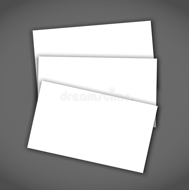 Business card blank with shadow mockup cover template stock vector download business card blank with shadow mockup cover template stock vector illustration of mockup cheaphphosting Gallery