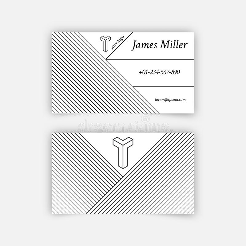 Business Card Blank Template Stock Vector - Illustration of internet ...